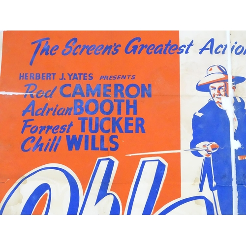 822A - Two mid 20thC film posters, for the western movies Tumbleweed (st. Audie Murphy 1953) and Oh! Susann...