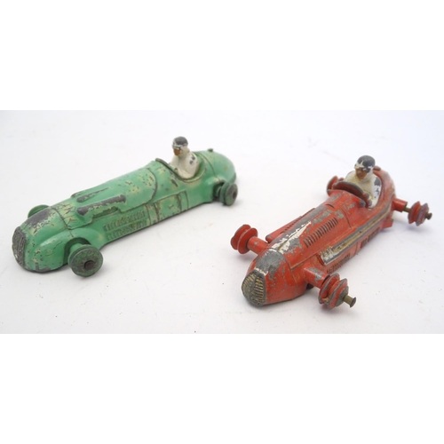 859 - Toys: Five Dinky Toys die cast scale model cars comprising Maserati, no. 231; H W M, no. 235; Teleph...