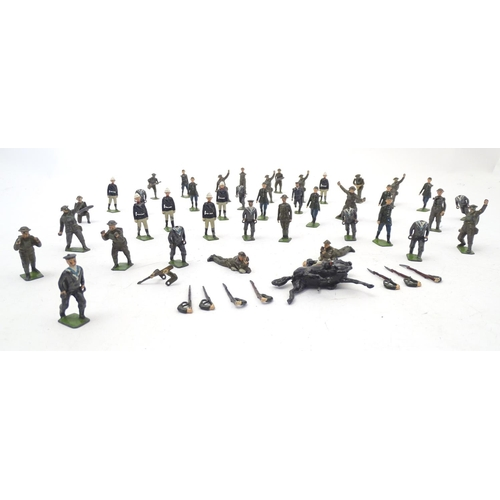 867A - Toys: A quantity of Britains Ltd. hand painted lead military figures / toy soldiers, to include one ...