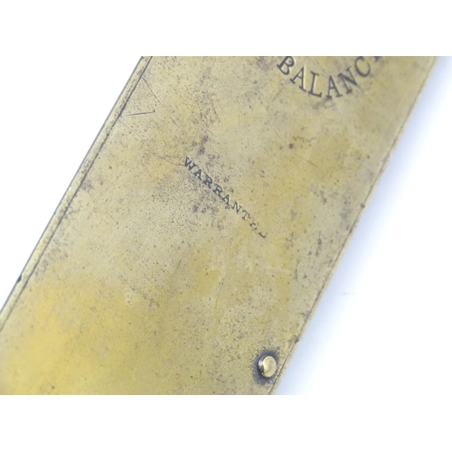 1220 - A Salter's brass faced improved spring balance scales. Approx. 15 3/4