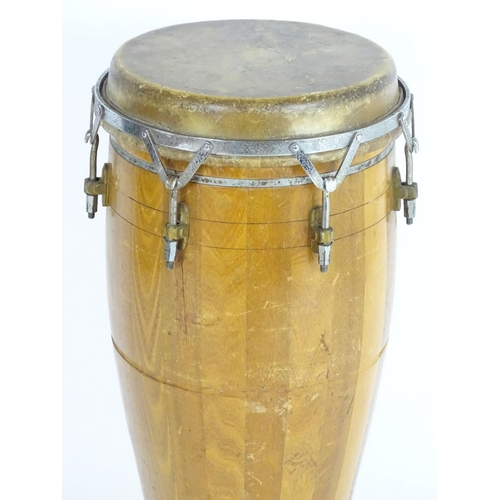 1311A - Musical Instrument: a mid-20thC ASBA, France conga drum, 31 tall