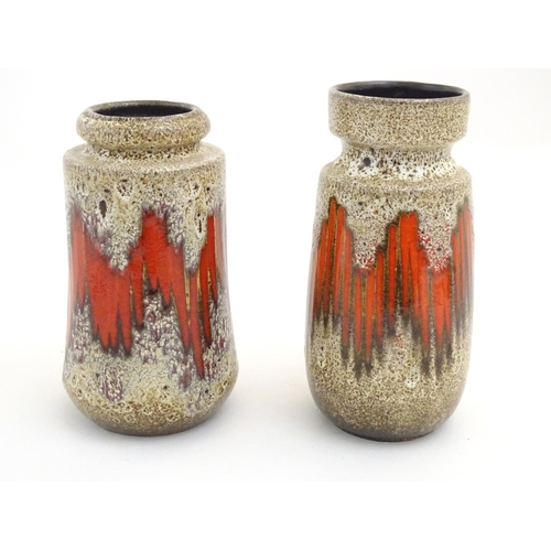 106 - Two West German vases designed by Scheurich Lora. Marked under. Largest approx. 8 3/4
