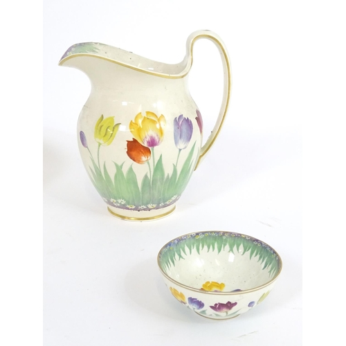183 - Six assorted ceramic items comprising a Booths water jug and bowl in the pattern Tulip retailed by T...