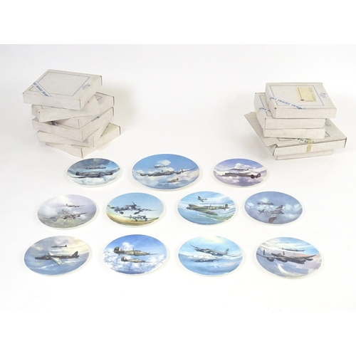 184A - A set of Coalport limited edition collectors plates from the Reach for the Sky series with artwork b...