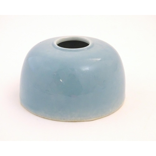 30 - A Chinese Clair de Lune style water pot / brush wash pot of domed form. Approx. 3