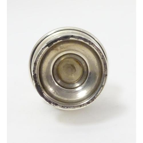 291 - A salt shaker hallmarked Chester 1936 maker S Blanckensee & Son Ltd. approx.  3 1/2