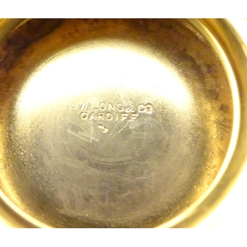 292 - A pair of silver gilt pedestal  bon bon dishes, hallmarked Birmingham 1915, maker George Nathan & Ri...