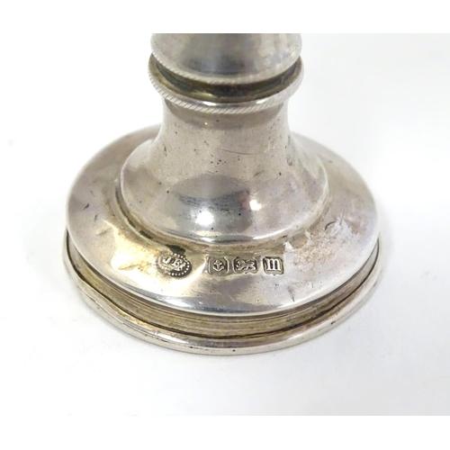 318 - A silver Kiddush cup with engraved decoration. Hallmarked Birmingham 1911 maker Jacob Fenigstein. Ap...