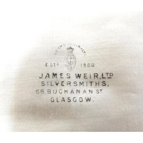 339 - A set of six silver grapefruit spoons hallmarked Sheffield 1928 maker Charles James Allen, together ...