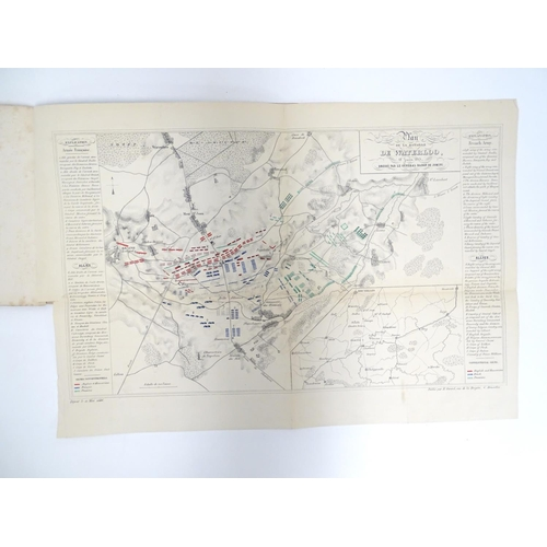 699 - Book: an album of monochrome prints, 12 views of Waterloo, including a large map / plan of the battl...