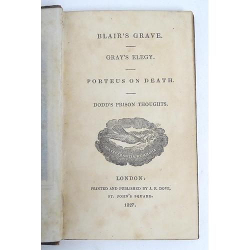 757 - Books: Pindar's Works (vol. 3, pub J. Walker 1816), Sturm's Reflections (vol.2, pub. Baynes 1824), S...