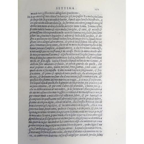 765 - Books: Il Decamerone di M. Giovanni, 1729 facsimile reprint of 1527 volume, with a vellum bound cove...