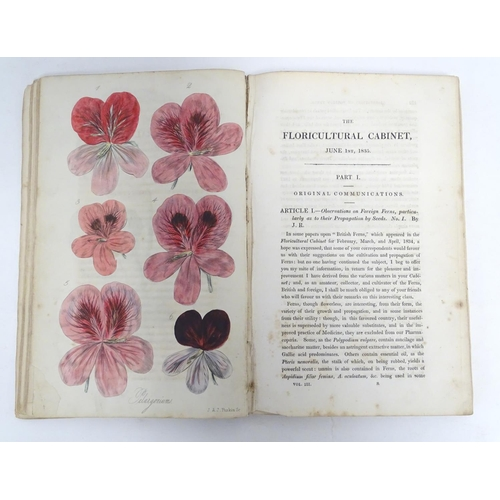 766 - Book: The Floricultural Cabinet and Florist's Magazine, conducted by Joseph Harrison, vol. 3, with h...
