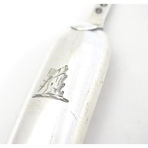 390 - A Geo III  silver marrow scoop, hallmarked London 1806 maker Mary Sumner. 9
