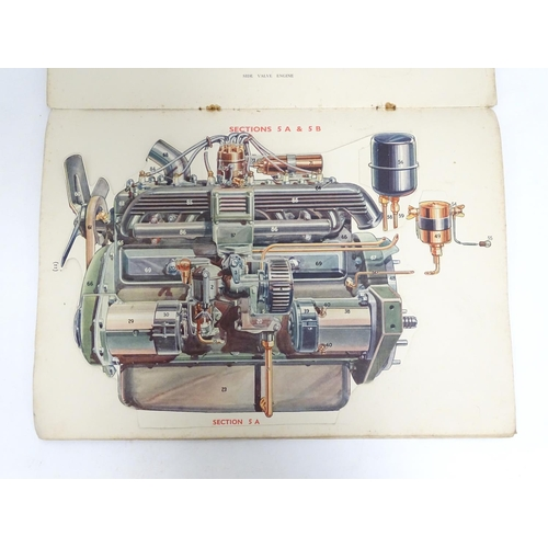 784 - Book: Shell, The Modern Motor Car, a promotional pamphlet, with cutaway / pop-up sectional diagram i...
