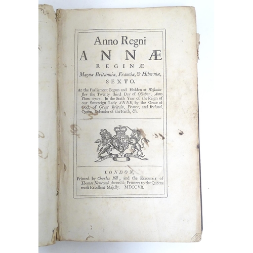 788 - Book: A collection of original documents with new laws / acts of parliament under the reign of Queen...