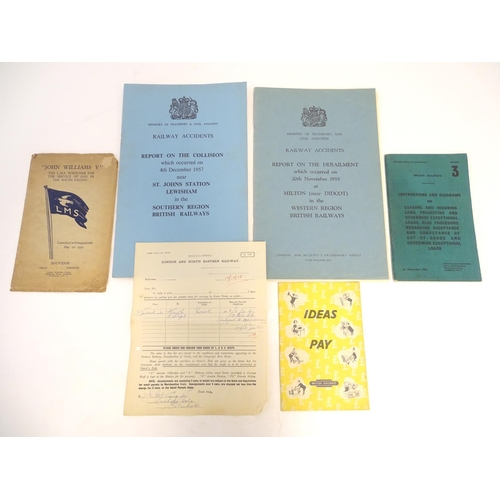 806 - Railway Interest: A quantity of 20thC British Railways ephemera to include a London and North Easter...