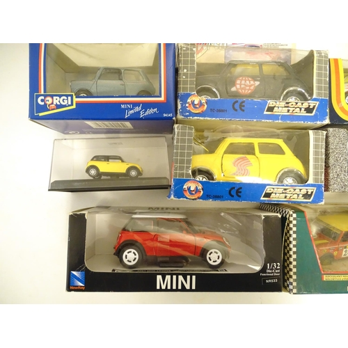 872 - Toys: A quantity of assorted die cast scale model cars / vehicles comprising Corgi Toys, Mini 1000, ...