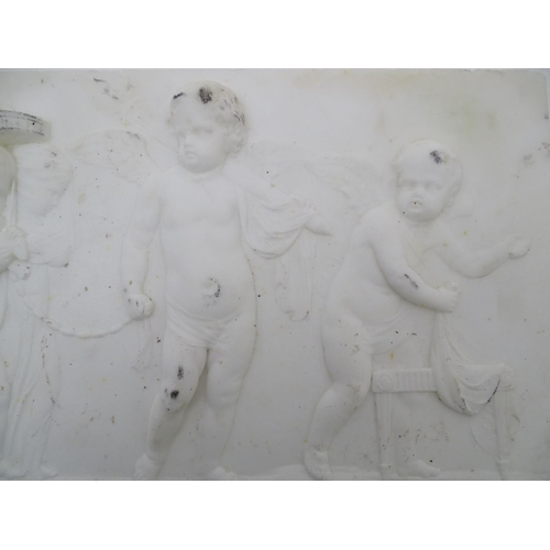 1225 - A marble slab depicting a classical scene after a design by Giovanni Battista Cipriani depicting Cup...