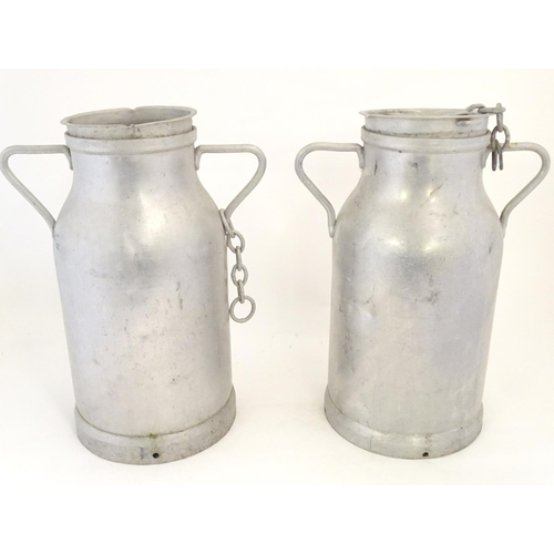 1268 - Two 20thC French milk churns by Hugonnet, Dijon. Approx. 20 1/2