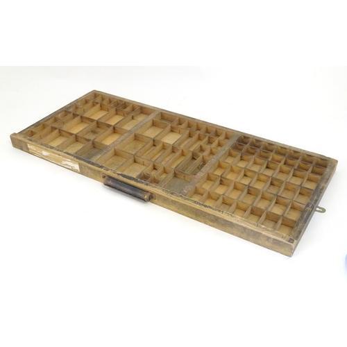 1289 - A vintage printers letterpress tray / drawer. Approx. 14 1/4
