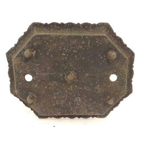 877 - A Victorian cast iron bootscraper and tray, 12