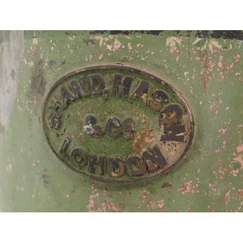 878 - Shand Mason & Co, fire engine manufacturers, Blackfriars, London 1760-1928: a Victorian hand water p...