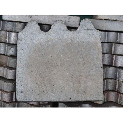 884 - Architectural, Salvage & Garden: a collection of approximately 120 Victorian lawn edging tiles, each...