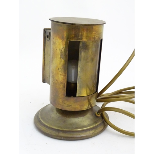 893A - Lighting : Two various wall light fittings one with Rd no 496809 and patent no 10783. A brass lamp w...
