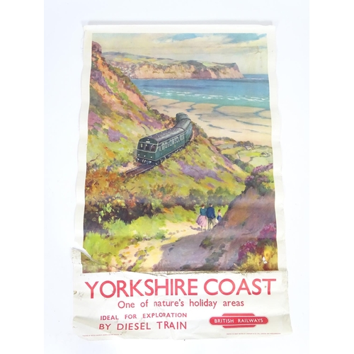 839 - A British Railways poster, Yorkshire Coast, One of nature's holiday areas, Ideal for Exploration by ...