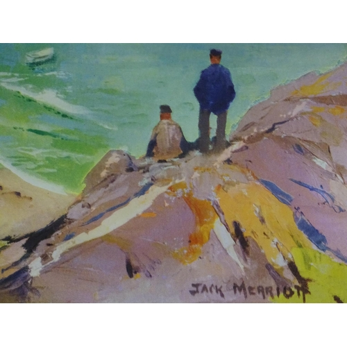 841 - A British Railways poster, Cornwall, Travel by Train. Depicting a Cornish cove, after a painting by ...