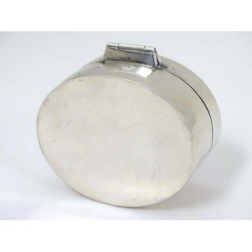 445 - WITHDRAWN FROM AUCTION - Apologies for any inconvenience. A George III silver snuff box of oval form...
