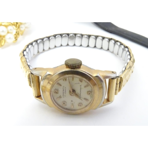 655 - A collection of mid 20thC wristwatches, comprising examples by Lorenco, Tegrov, Limit, Integra, Stir...