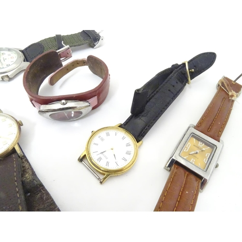 659 - A collection of mid to late 21stC wrist watches, including a cased Triumph (motorcycles) example, Sk...