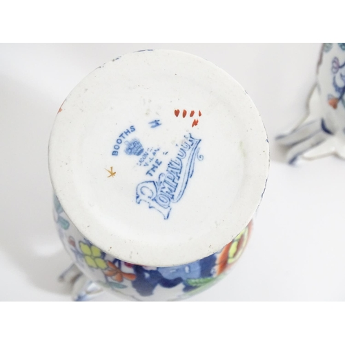 162 - A large quantity of Booth's Silicon China wares in the pattern The Pompadour, to include teapots, a ...