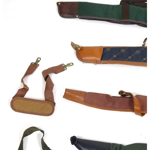 1980 - Shooting: an assortment of gunslips, including examples by Beretta, Bisley and Brady (7)...