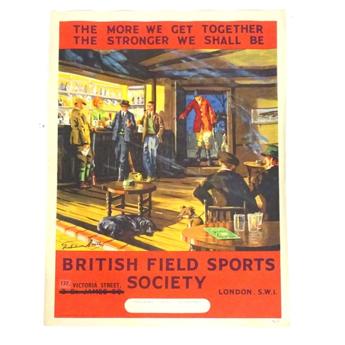 1982 - A British Field Sports Society poster The More We Get Together The Stronger We Shall Be. Depicting t...