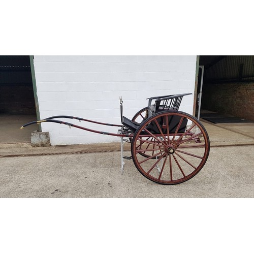 2067 - Horse-drawn Carriage :  An early 20thC stick back pony show gig by J. A Lawton of Liverpool. To suit...