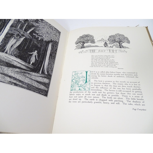 739 - Book: The Months, Descriptive if the Successive Beauties of the Year, by Leigh Hunt, illustrated by ...