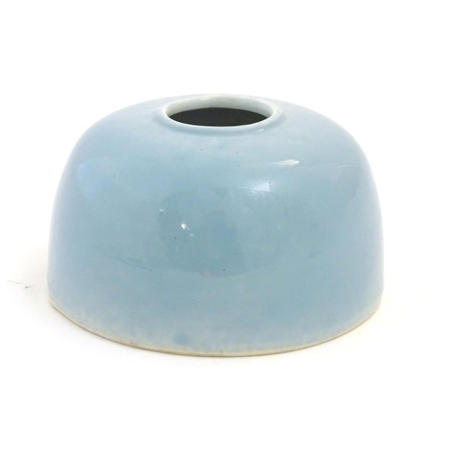 48 - A Chinese Clair de Lune style water pot / brush wash pot of domed form. Approx. 3
