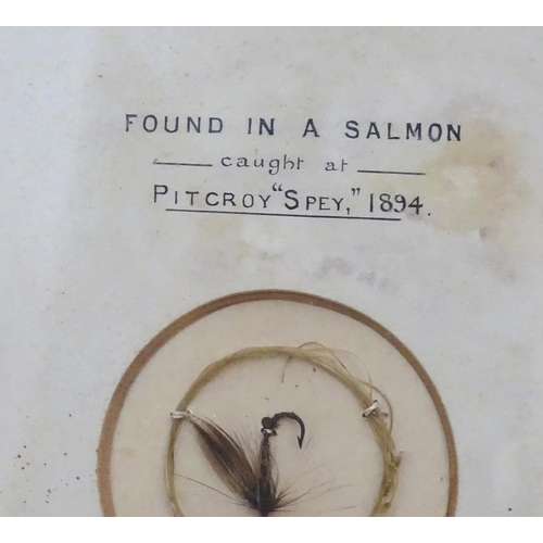 2358 - A personal collection of Victorian salmon & trout flies recovered by George Frederick McCorquodale f...
