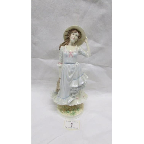 1 - A Royal Worcester limited edition figurine 'Summer'...