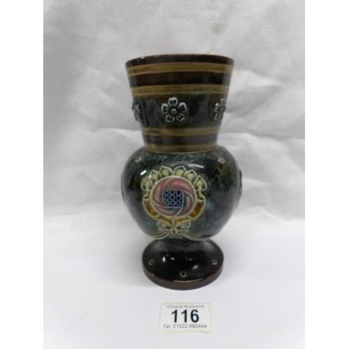 116 - A Victorian Doulton Lambeth vase...