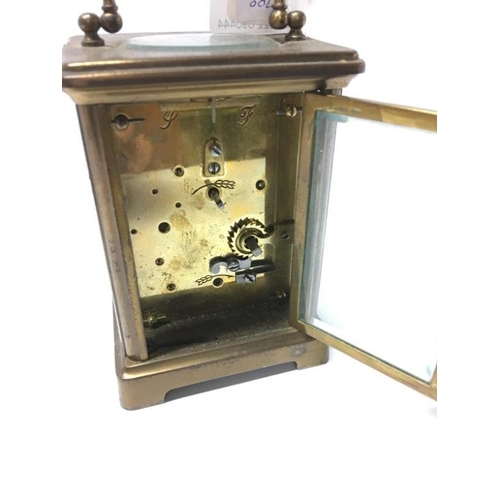 124 - A brass carriage clock...