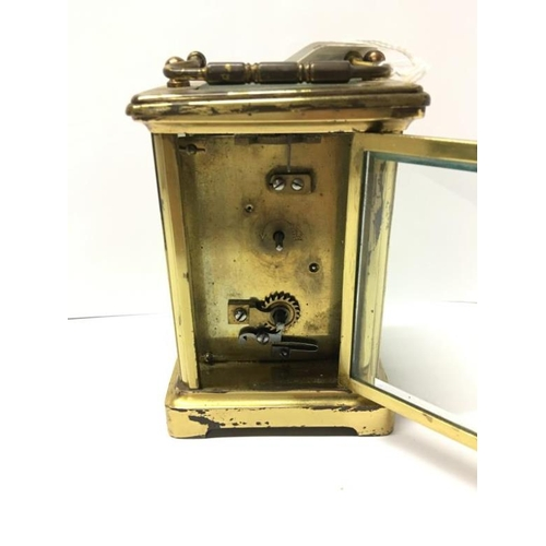 125 - A brass carriage clock...