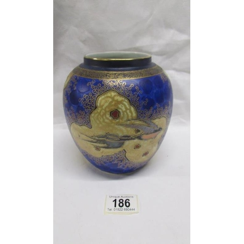 186 - A fine Carlton ware base from the clouds and swallows series...