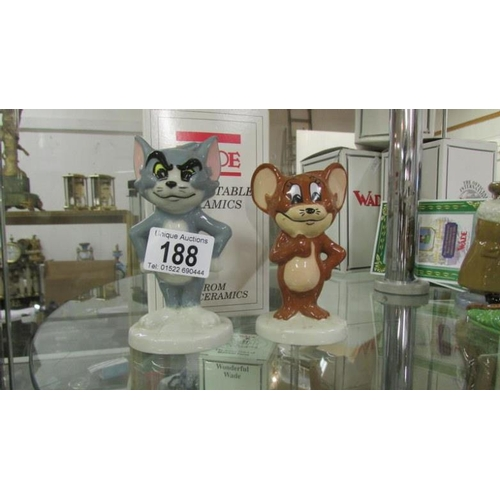 188 - A Wade Tom & Jerry, UK Ceramics, with certificates...