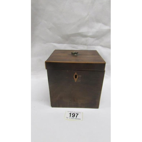 197 - An early 19th century mahogany tea caddy...