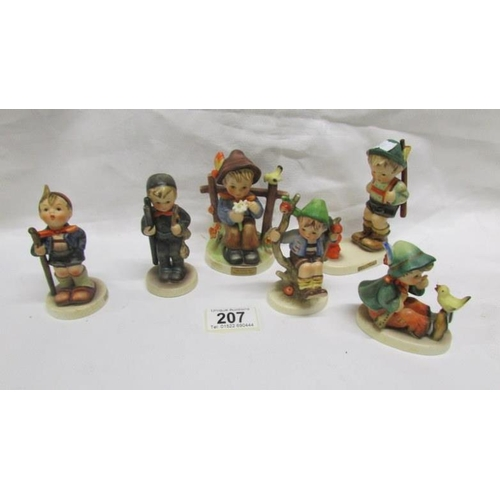 207 - 6 Hummel/Goebel figurines...