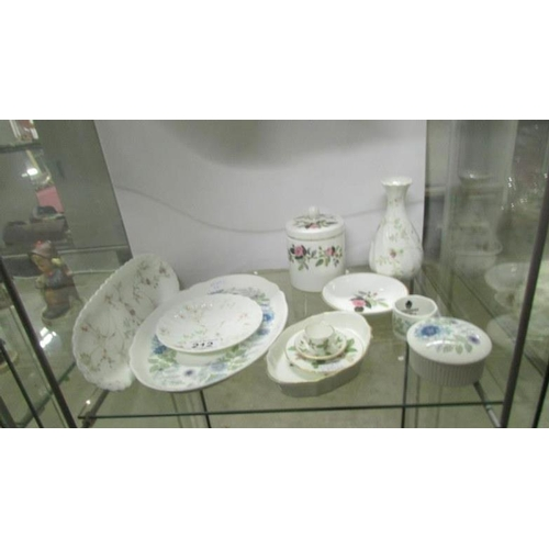 212 - A mixed lot of porcelain including Wedgwood...